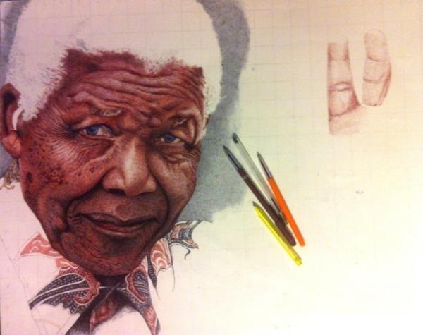 Nelson Mandela par Sergo
